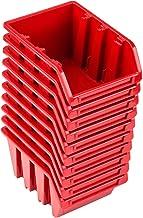 Pafen NP4 - Juego de cajas apilables (10 unidades), color rojo