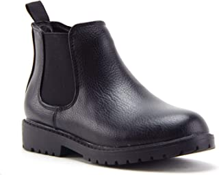 Jazamé Little Boys Blake Round Toe Ankle High Zip Chelsea Dress Boots