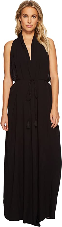 Vince Camuto - Riviera Solids Wrap Maxi Cover-Up Dress