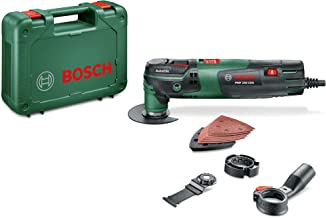 Bosch Oscillating Multi Tool PMF 250 CES (250 Watt, 2 x Blades, Sanding Set, Dust Extraction Adaptor and Depth Stop Includ...
