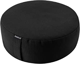 REEHUT Cojin Zafu Meditation Yoga Zen - 30cm × 11cm- Cojin Yoga Zafu, Cojin Suelo Redondo, Meditation Cushion para Yoga - ...