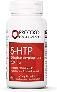 Protocol For Life Balance - 5-HTP (5-hydroxytryptophan) 200 mg - with Glycine, Taurine and Inositol to Support Positive Mo...