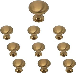 10 Pack Champagne Bronze Cabinet Knobs and Pulls 1-1/5'' Diameter Round Mushroom Kitchen Bedroom Bathroom Drawer Pulls