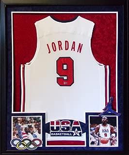 Michael Jordan USA Team USA Olympics Autograph Signed Custom Framed Jersey UDA Upper Deck Authenticated