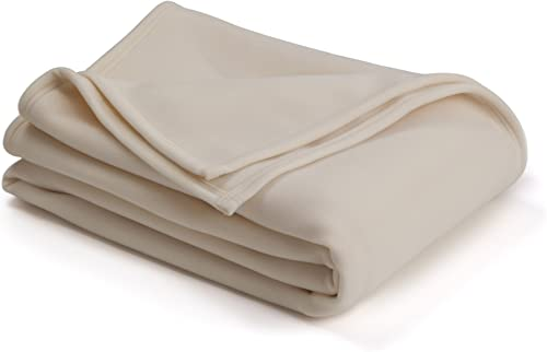 Vellux 1B05292 The Original Vellux Blanket- Soft, Warm, Insulated, Pet-Friendly, Home Bed & Sofa- Ivory, Full/Queen 9...