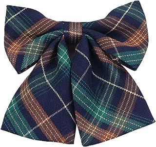 Lovacely Lady Handmade Pre-Tied Plaid Bowknot Bow Tie for Women Girls Necktie School Uniform Bow Ties