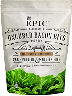 EPIC Hickory Smoked Bacon Bits, Keto Consumer Friendly, 3oz pouch
