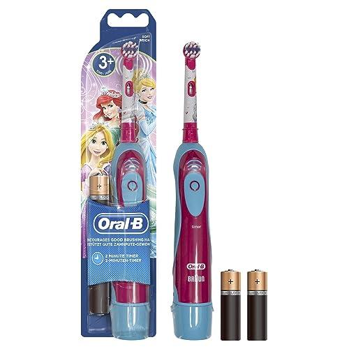 Oral-B Brosse à Dents à Piles pour Enfant Cars ou Princesses de Disney