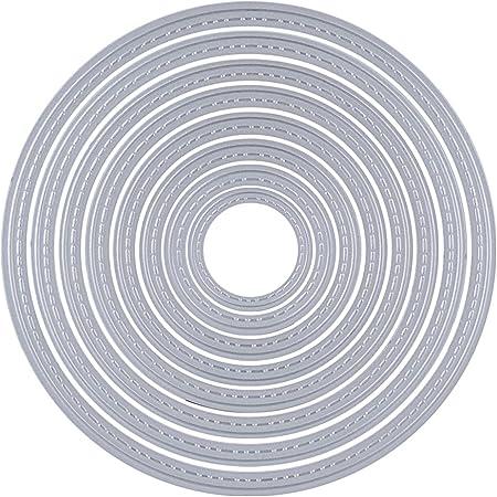 Scrapbooking Dies Cutting Matrices de Découpe Pochoirs Bricolage Album Mariage Décoration Papier Carte Craft DIY Scrapbooking Matériel (Cercle)