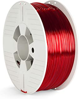 Verbatim PET-G Filament - 2.85 mm, Polyethylene Terephthalate Glycol, Transparent red