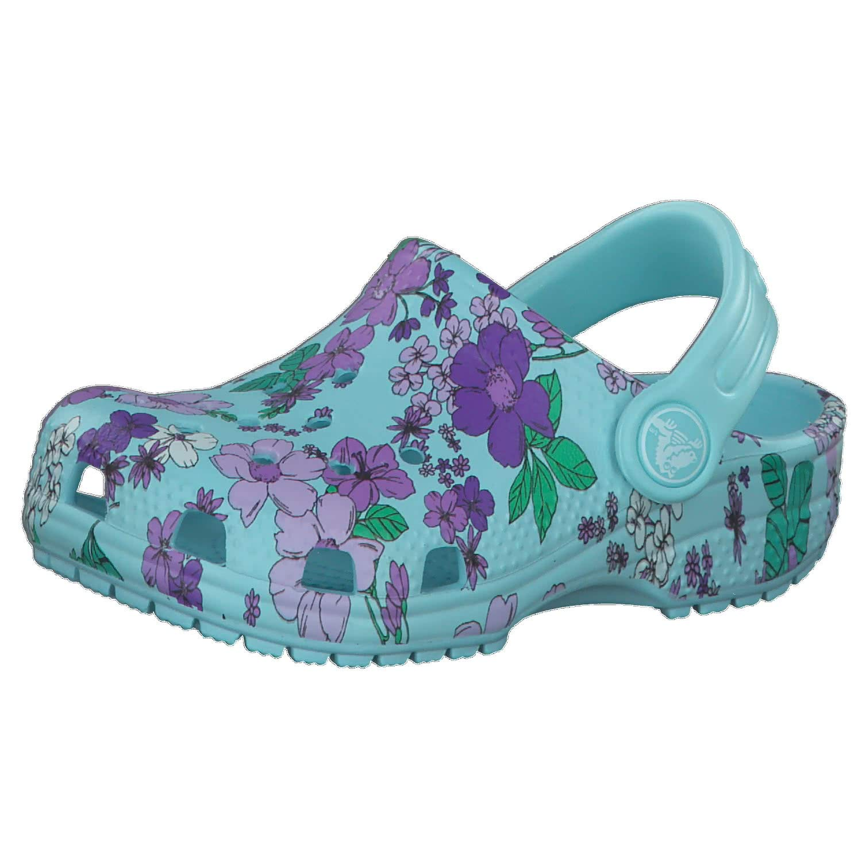 Crocs Unisex Kids Classic Floral Clog Ps Leisure Flip Flops Sportwear for Children