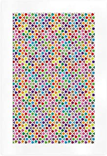 YOLIYANA Geometric Elegant Art Print,Fidget Spinner Shaped Abstract Rainbow Colored Image Geometric Ornamental Pattern Decorative for House,7