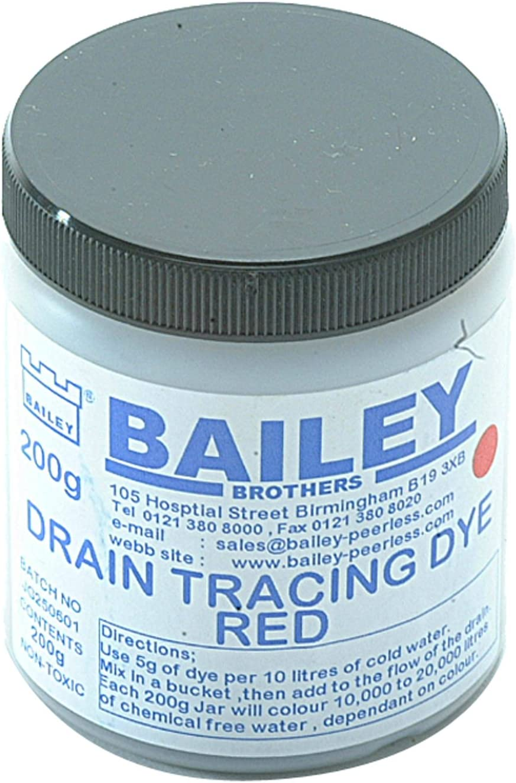 Bailey 1992 Drain Tracing Dye MIX azzurro polvere con tubi di flusso dell/'acqua Scarichi Tubo