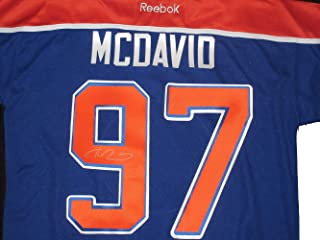 Connor McDavid Autographed Edmonton Oilers Jersey W/PROOF, Picture of Connor Signing For Us, Edmonton Oilers, 2015 NHL Draft, 1 Pick, Erie Otters, Team Candada