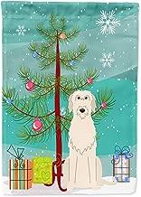 Caroline's Treasures BB4190GF Merry Christmas Tree Irish Wolfhound Garden Size Flag, Small, Multicolor