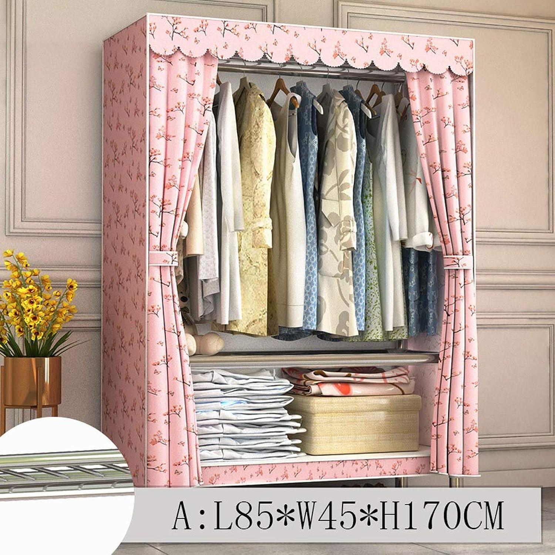 Clothes Closet Wardrobe Wardrobe Portable Clothes Closet Cupboard Combination Bedroom Furniture Storage 85  45  170 cm (color   A)
