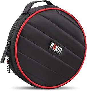 0721H BUBM Portable Round 32 CD Disc Storage Case Bag Heavy Duty CD/DVD Wallet for Car, Home, Office and Travel (Black)