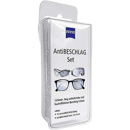Zeiss Spray Anti-Appannamento con Contenuto da 15 ml Incluso Un Panno per la Pulizia degli Occhiali per Una Protezione duratura Contro l'appannamento Anche in Caso di Elevata umidità