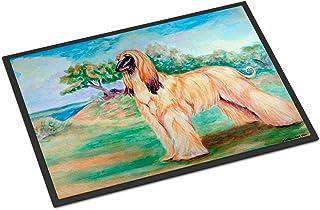 """Caroline's Treasures 7138MAT Afghan Hound Indoor Outdoor Doormat, 18"""" x 27"""", Multicolor"""