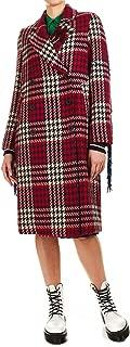 5 PROGRESS Luxury Fashion Womens 533MAXICHECK Red Coat | Fall Winter 19