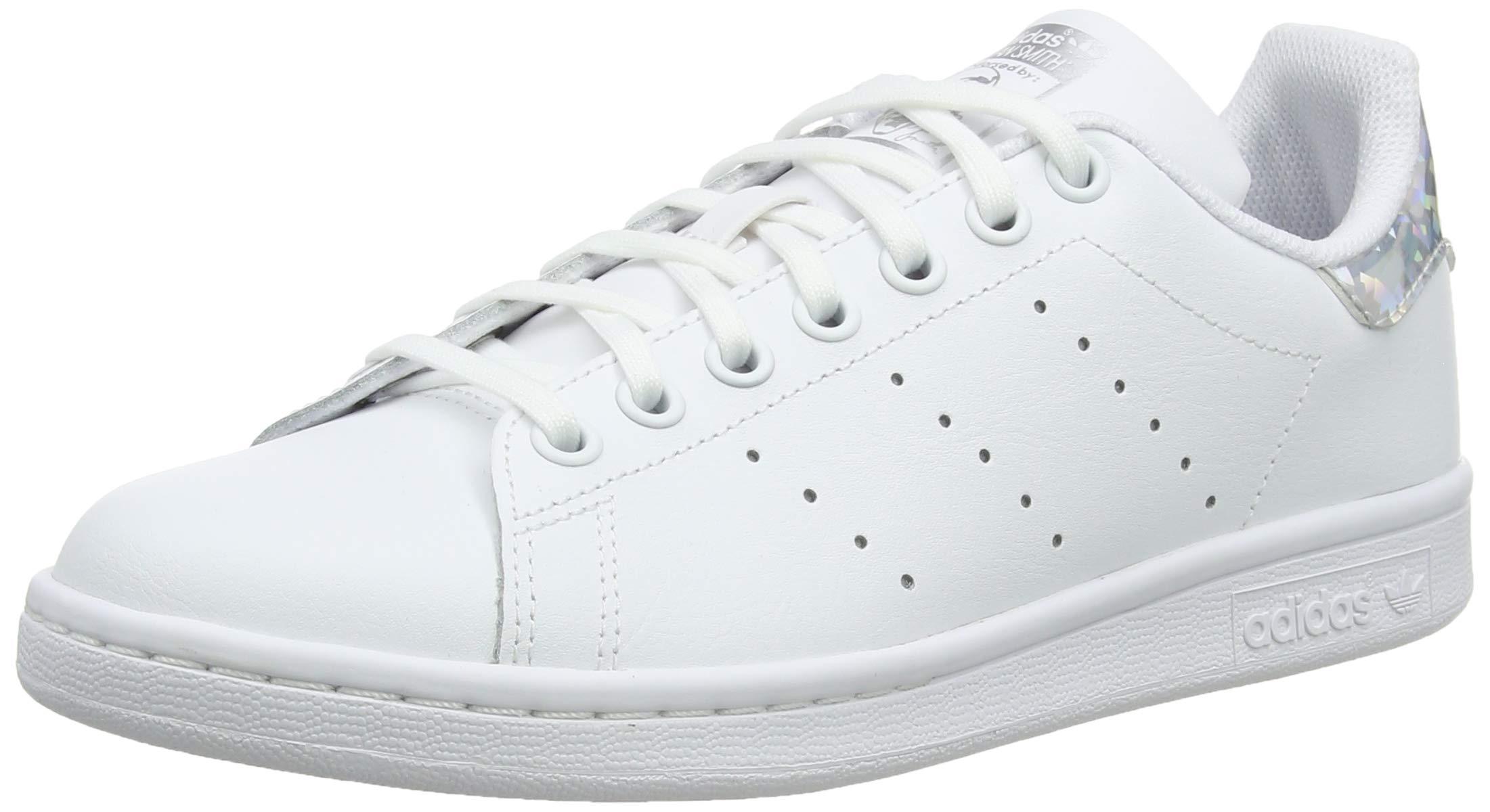 adidas Originals Stan Smith Junior Shoes White/Silver Iridescent 4.5 Big Kid