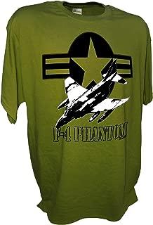 Mens F4 Phantom Fighter Bomber Jet USAF Tee By Achtung T Shirt LLC