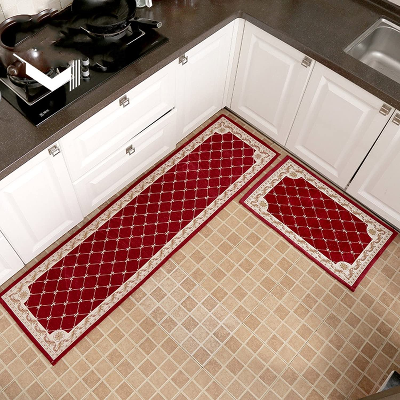 Non-Slip Kitchen Mat, Soft Balcony Corridor Doorway Carpet, Washable Bathroom Mat, Fast Drying, 1 Piece-A 18x47inch