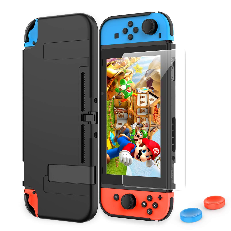 HEYSTOP Funda Nintendo Switch, Carcasa Nintendo Switch con Protector de Pantalla para Nintendo Switch Console y Joy-con con Agarres para el Pulgar: Amazon.es: Electrónica