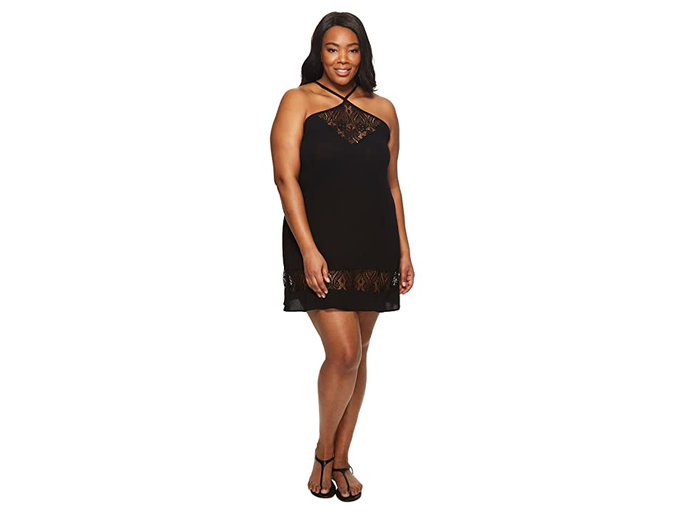BECCA by Rebecca Virtue Plus Size Poetic Dress Cover-Up (Black) Women