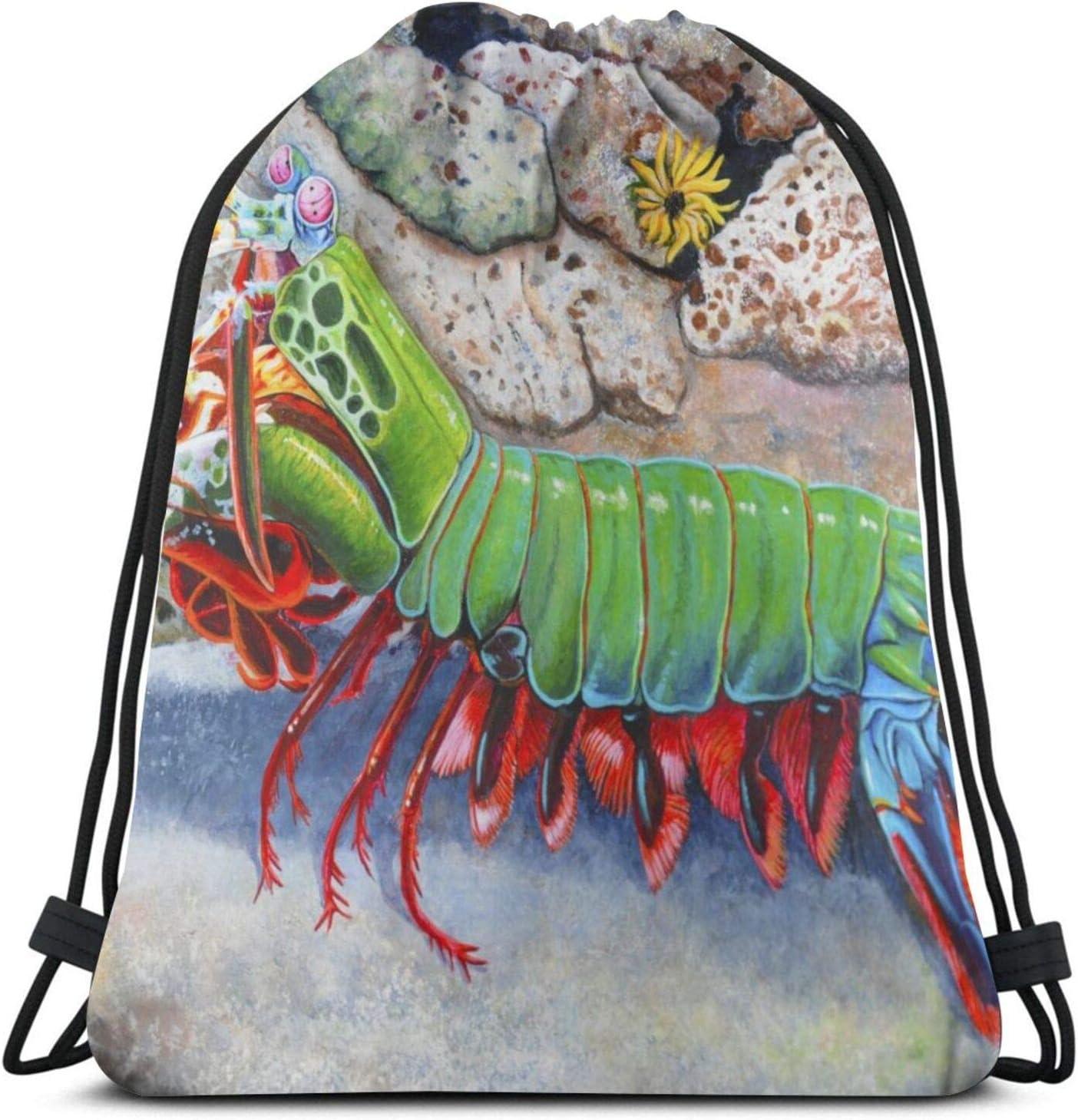 Large discharge sale Drawstring Backpack Storage New York Mall Bags String Shrimp Kids Mantis T Bag
