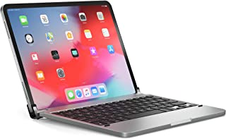 BRYDGE 11 Pro, Hochwertige Bluetooth Tastatur aus Aluminium für das iPad Pro 11 (2018 & 2020), deutsches Layout QWERTZ, inklusive magnetischem iPad Cover, silber