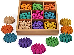 OTOFY Backflow Incense Cones 360 Pcs of 100% Natural Scents Waterfall Incense Rose Tulip Jasmine Lavender Rose for Backflo...