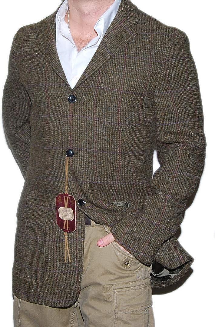 Ralph Lauren Polo Mens Wool Blazer Sport Coat Jacket Plaid Brown Italy 42L $1295
