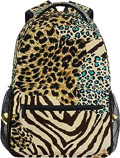 Mochila Estampado de Leopardo de Cebra, para Viajes, Universidad, portátil, con Cremallera, para Senderismo, Camping, para niños, niñas, Mujeres y Hombres