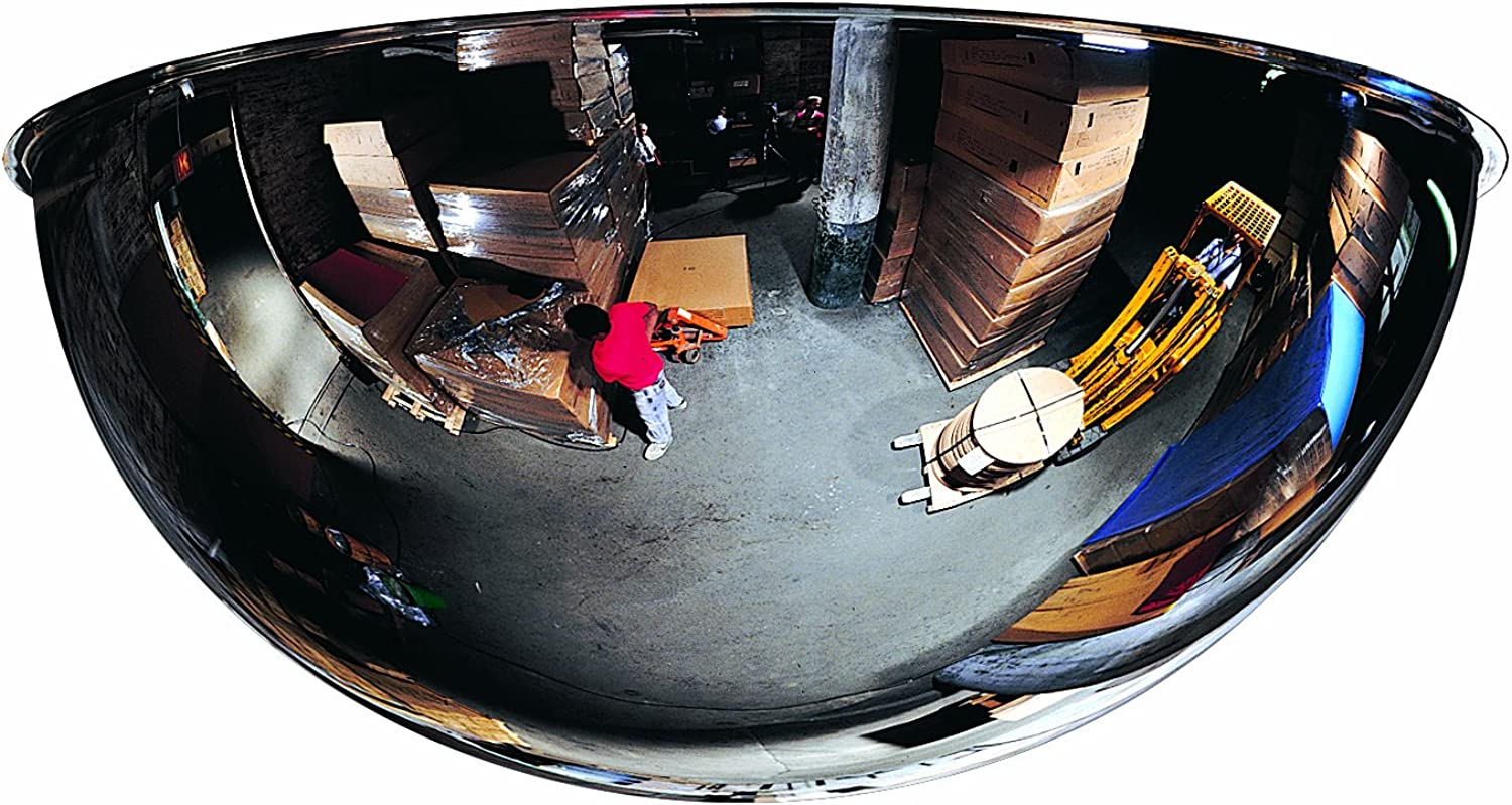 See All PVS9-360 Mr. Steely Panaramic Full Dome Steel Security Mirror, 360 Degree Viewing Angle, 9  Diameter (Pack of 1)