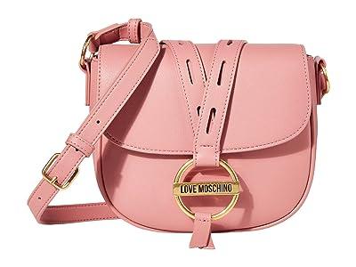 LOVE Moschino Saddle Bag (Dark Pink) Handbags