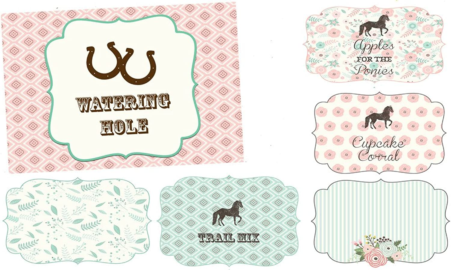 Pony Adoption Party Decorations Invitations and Supply Kit Horse (Food Labels)