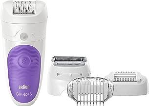 Braun Silk-Épil Depiladora Mujer 5-541 - Depiladora Eléctrica Inalámbrica, Tecnología Wet & Dry, 4 Accesorios Incluido un Cabezal de Afeitado, Blanco