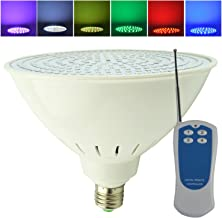 Aliyeah 35W Par56 E27 Color Changing LED Swimming Pool Light with Remote 300-500W 120V Incandescent Bulb Replacement for Pentair Hayward 120V Light Fixture (Switch Control + Remote Control)