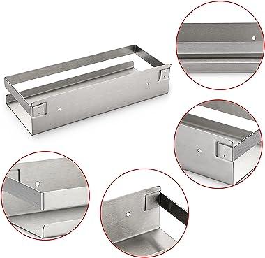 OwnMy 10 Inch Bathroom Shower Shelf Stainless Steel Bath Kitchen Basket Shower Caddy Rack, Rust Proof Metal Bathroom Storage