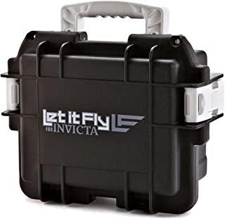 Invicta 3 Three-Slot Dive Collector Case Black/White Let it Fly