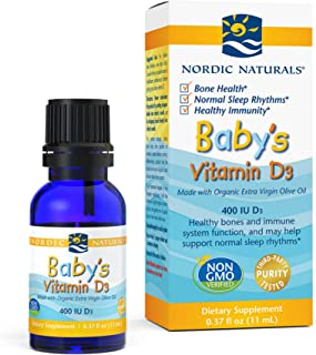 Nordic Naturals Baby's Vitamin D3 - Vitamin D From Natural Cholecalciferol Helps Calcium Absorption To Supp...