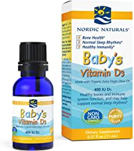 Nordic Naturals Baby's Vitamin D3 - Vitamin D From Natural Cholecalciferol Helps Calcium Absorption To Support Healthy Teeth, Bone Development, Immune System and Brain Function,(0.37 oz) 11 ml
