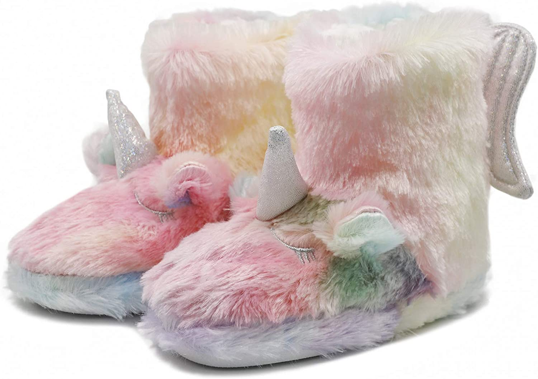 Girls Unicorn Regular discount House Slippers Cozy Selling rankings Outdoor Indoor Plush Anti-Skid