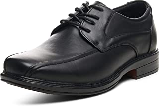 Mens Dress Shoes Leather Lined Lace up Oxfords Baseball Stitched