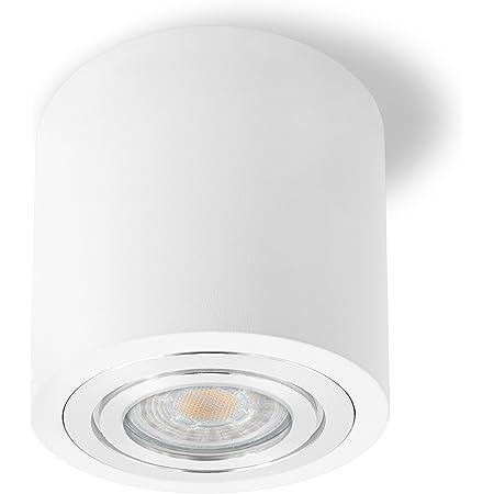 AUFBAULEUCHTE DECKENLAMPE LED LAMPE SPOT SPOTLEUCHTE METALL MODERN WEIß 5W