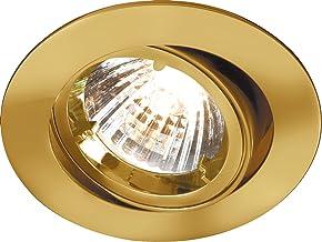 Knightsbridge IP20 230V/12V GU10/MR16 Brass Recessed Tilt Twist & Lock Downlight, Aluminium