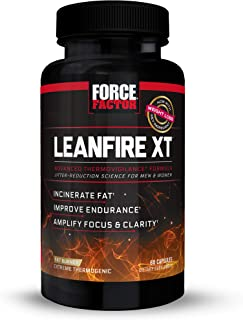 LeanFire XT Thermogenic Fat Burner Supplement for Men and Women with Green Tea Extract and L-Theanine to Double Weight Los...