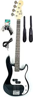 46inch Mike Music Electric Bass Guitar Full Size 4 String Rosewood Basswood with Bag and Cable and Extra strings (Electric...