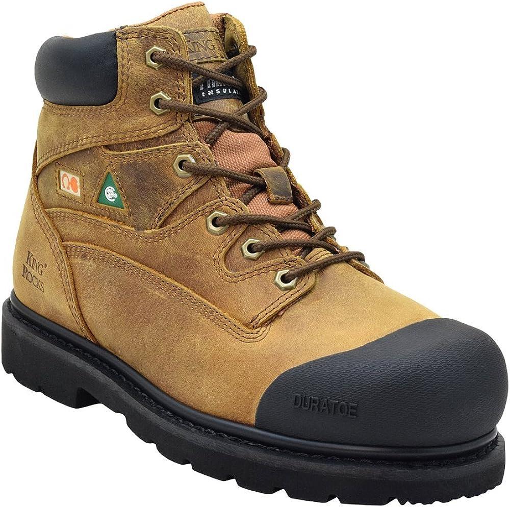 King Rocks Men's Safety Work Boots 6